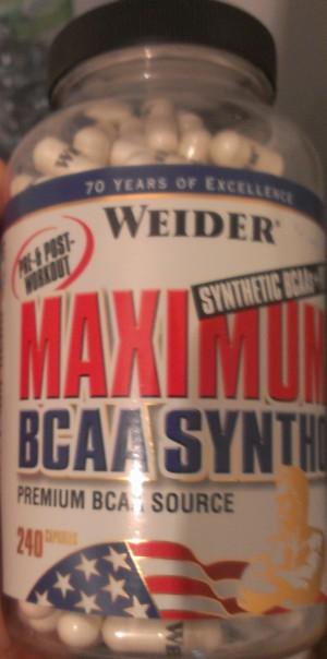 WEIDER MAXIMUM BCAA SYNTHO + PTK Test